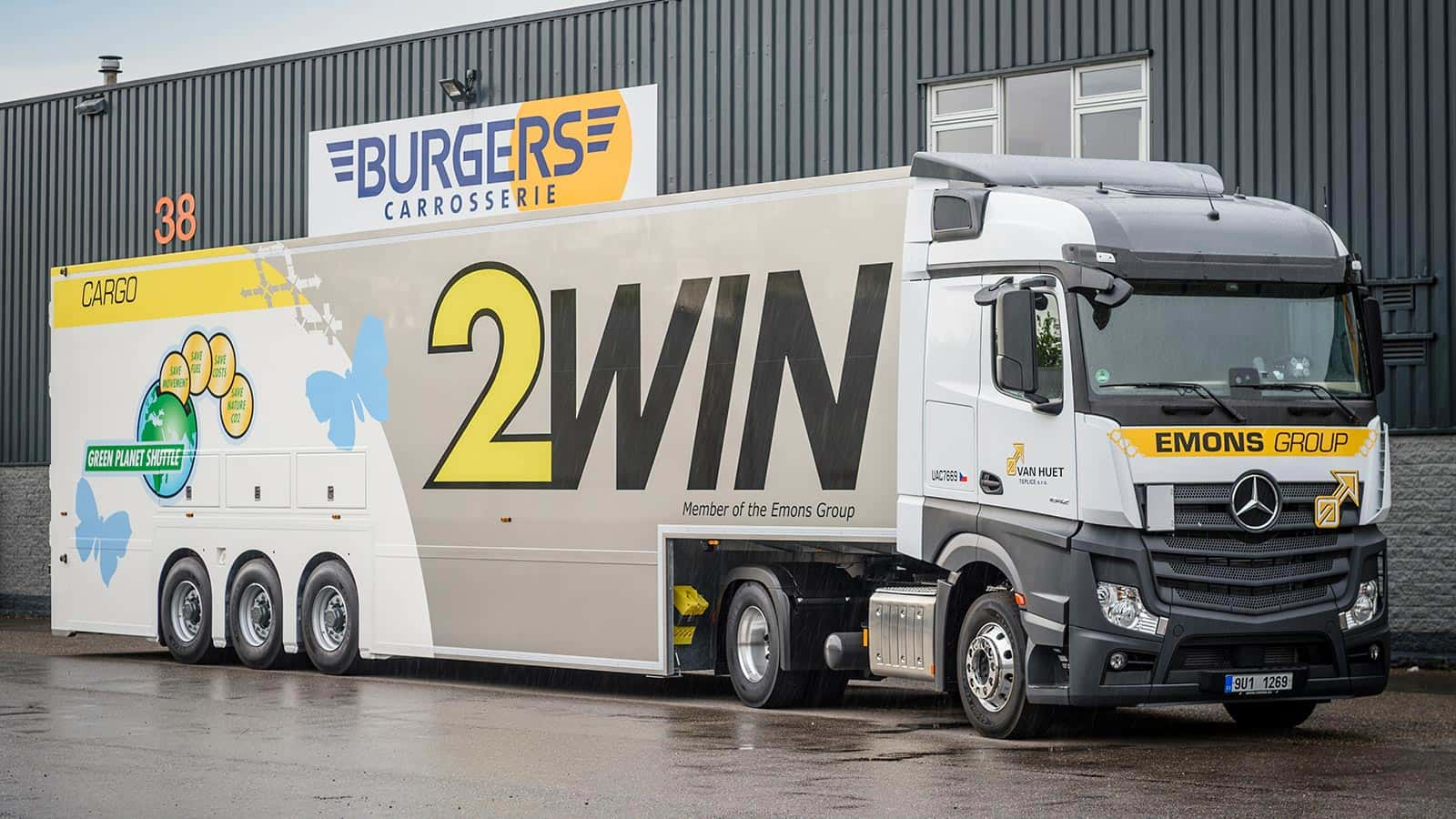 van riemsdijk Reklame - Burgers Carrosserie - Doubledeck Vrachtwagens- Emons group - 1600